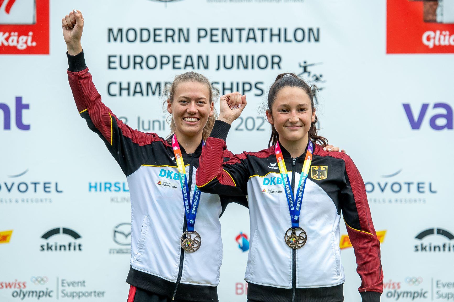 2021 Junior European Championships ECMP Patric Spahni Sieg Frauen-Staffel